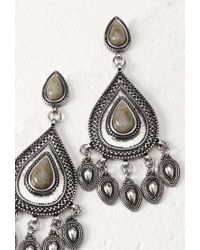 Forever 21 | Metallic Faux Stone Drop Earrings | Lyst