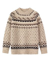 Toast - Natural Caced Icelandic Sweater - Lyst