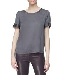 J Brand - Gray J Brand Jeans L8001 Leather Leggings - Lyst