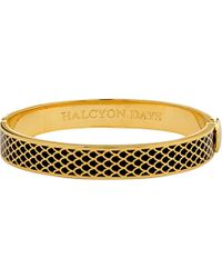 Halcyon Days | Metallic Salamander 18ct Gold-plated Brass Bangle | Lyst