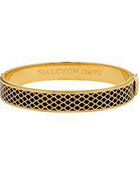 Halcyon Days - Metallic Salamander 18ct Gold-plated Brass Bangle - Lyst
