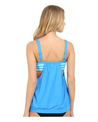 Next By Athena - Blue Barre To Beach Double Upsoft Cup Tankini (d-cup) - Lyst