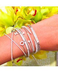 Anne Sisteron | Metallic 14kt White Gold Diamond Thick Chain Id Bracelet | Lyst