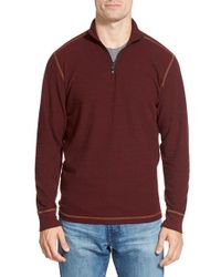 Agave - Red 'julias' Quarter-zip Pullover for Men - Lyst