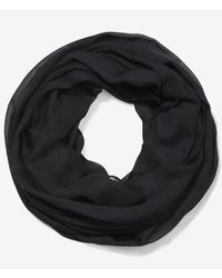 Express - Black Sheer Solid Infinity Scarf - Lyst