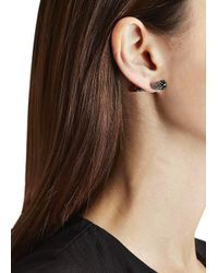 Katie Rowland | Pink Mini Stake 18Kt Rose Gold Earrings | Lyst