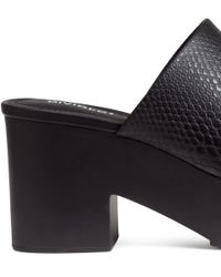H&M Black Platform Mules