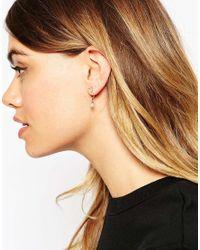 ASOS - Metallic Moon & Star Swing Earrings - Lyst