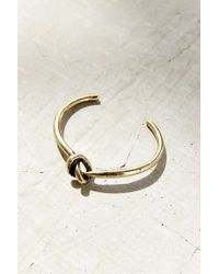 Urban Outfitters - Metallic Knot Cuff Bracelet - Lyst