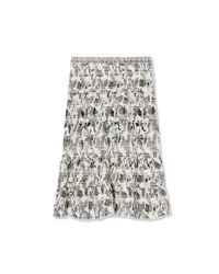 Tory Burch - White Smocked Cotton Skirt - Lyst