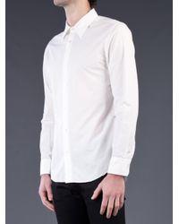 Kuro White Basic Washed Shirt for men