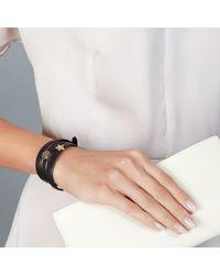 Astley Clarke Purple London Nights Nappa Leather Bolsena Bracelet