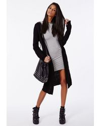 Missguided Gray Rainey Long Sleeve Bodycon Dress Grey