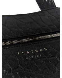 Tsatsas Black Unisex Fluke Bag