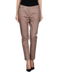 Peserico - Brown Casual Trouser - Lyst