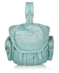 Alexander Wang - Blue Marti Metallic Textured Leather Backpack - Lyst