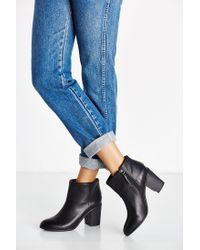 BC Footwear | Black Band Heeled Ankle Boot | Lyst
