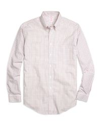 Brooks Brothers - Pink Non-iron Brookscool® Madison Fit Tattersall Sport Shirt for Men - Lyst