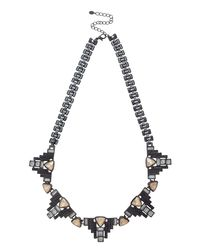 Oasis | Multicolor Deco Stone Collar Necklace | Lyst