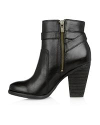 Frye Black Patty Leather Ankle Boots