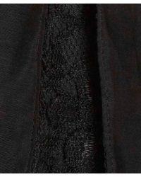 CLU Black Paneled Lace Midi Skirt