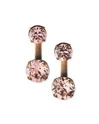 Auden - Pink Round Crystal Ear Jackets - Lyst