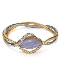 Alexis Bittar - Multicolor Pave Crystal Woven Vine Bangle - Lyst