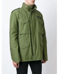 Iceberg - Green Embroidered Back Parka for Men - Lyst