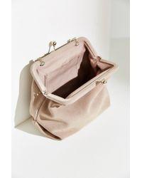 Kimchi Blue - Pink Suede Kiss Lock Bag - Lyst