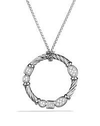 David Yurman - Metallic Confetti Pendant With Diamonds On Chain - Lyst