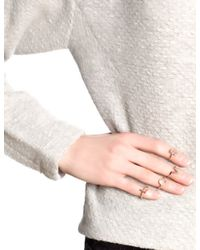 Bjorg | Pink Rose Gold Alphabet Rings S - Z | Lyst