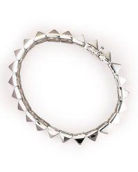Eddie Borgo   Metallic Pyramid Bracelet   Lyst