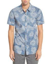 Rip Curl - Blue 'pinto' Print Short Sleeve Sport Shirt for Men - Lyst
