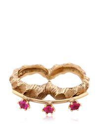 Voodoo Jewels | Metallic Desertica Lut Double Ring | Lyst
