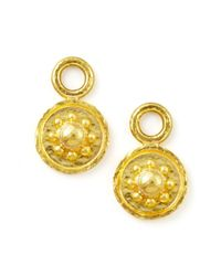 Elizabeth Locke | Metallic 19k Gold Daisy Disc Earring Pendants | Lyst
