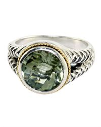 Effy | Balissima Sterling Silver And 18kt. Yellow Gold Green Amethyst Ring | Lyst