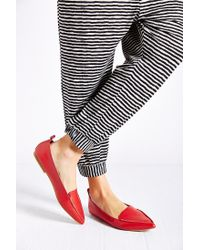 Jeffrey Campbell - Red Vionnet Flat - Lyst
