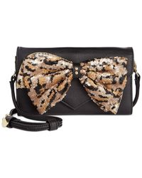 Betsey Johnson | Multicolor Macy's Exclusive Bow Sequin Wallet Crossbody | Lyst