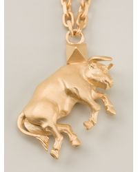 Valentino - Metallic Bull Pendant Necklace - Lyst