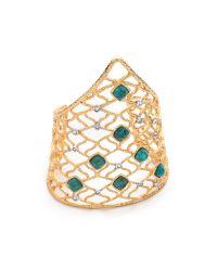 Alexis Bittar Green Mosaic Lace Cuff Bracelet