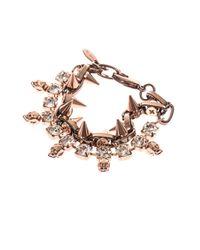 Joomi Lim | Pink Crystal, Skull And Spike Bracelet | Lyst