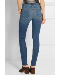 FRAME Blue - Forever Karlie Mid-rise Skinny Jeans - Mid Denim
