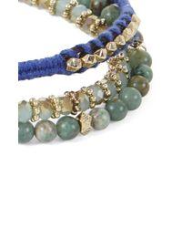 BCBGMAXAZRIA Green Naturalstone Bracelet Set
