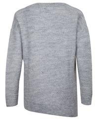 Dex - Gray Asymmetrical V-neck Sweater - Lyst