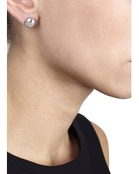 Marc By Marc Jacobs - Metallic Silver Tone Dome Stud Earrings - Lyst