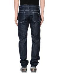 Luigi Bianchi Mantova - Blue Denim Trousers for Men - Lyst