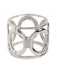 BaubleBar | Metallic Silver Olink Cuff | Lyst