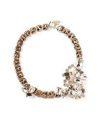 DSquared² - Metallic Embellished Chain Bracelet - Lyst