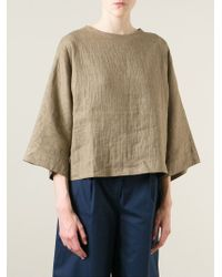 Societe Anonyme - Natural Boxy Blouse - Lyst