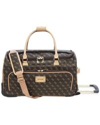 Guess | Brown Logo Affair Dlx Rolling Duffel for Men | Lyst